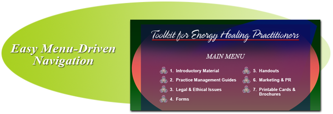 Toolkit for Energy Healing Practitioners Menu